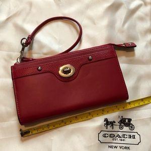 Coach Red Wristlet/Wallet